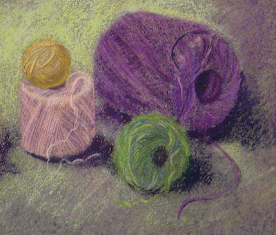 Fun w/Soft pastels class taught by Kay Brathol-Hostvet