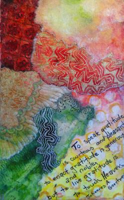 Art Journaling class taught by Tess Imobersteg