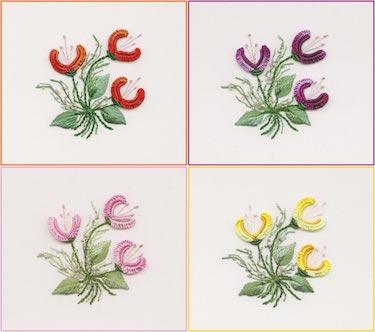 Three Jasmine Embroidery
